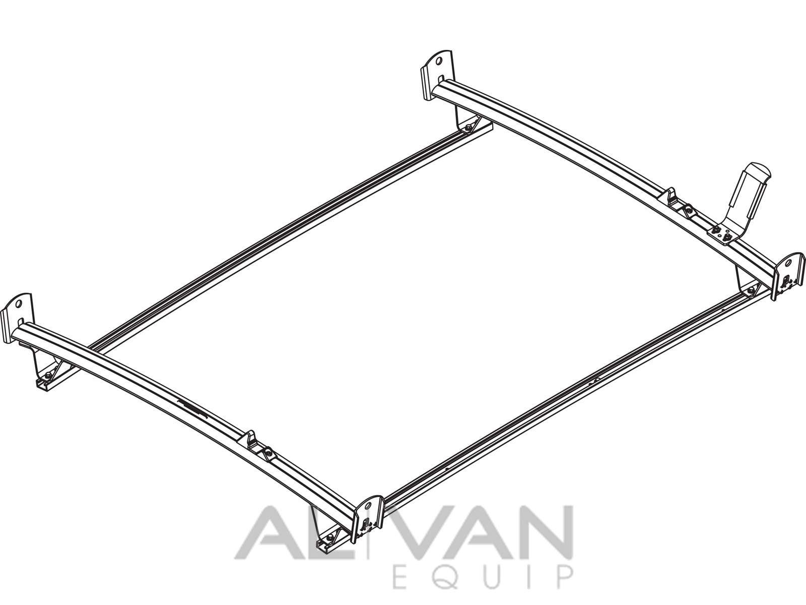 standard van ladder rack  nissan nv200  city express